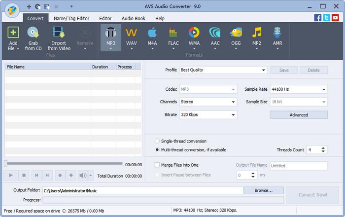 AVS Audio Converter(音频编辑软件)V9.0.1.590 电脑破解版