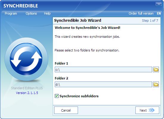 Synchredible(数据同步工具)V5.300 电脑版
