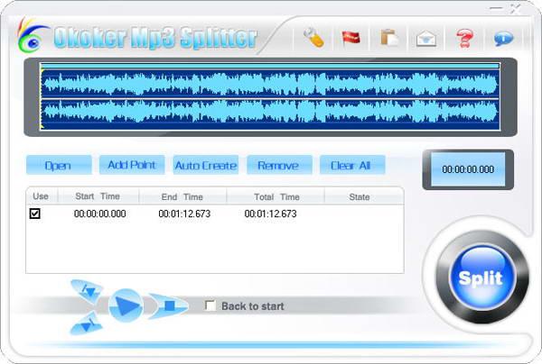 Okoker Mp3 Splitter(mp3剪切器)V5.0.0 电脑版