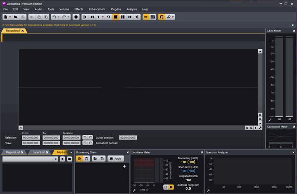 Acoustica Premium Edition(高級音頻處理軟件)V7.0.6 電腦版