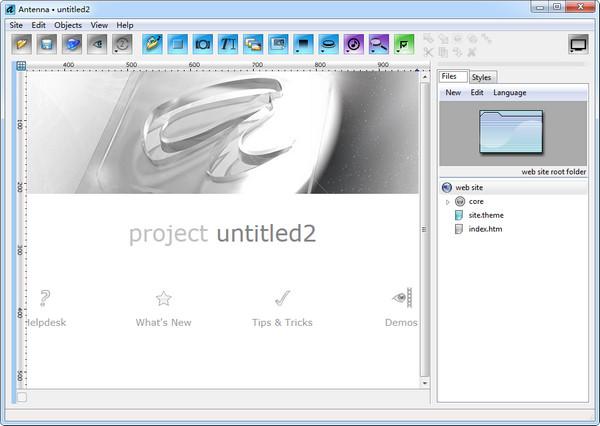 Antenna Web Design Studio(可視化網頁設計)V6.6 電腦版