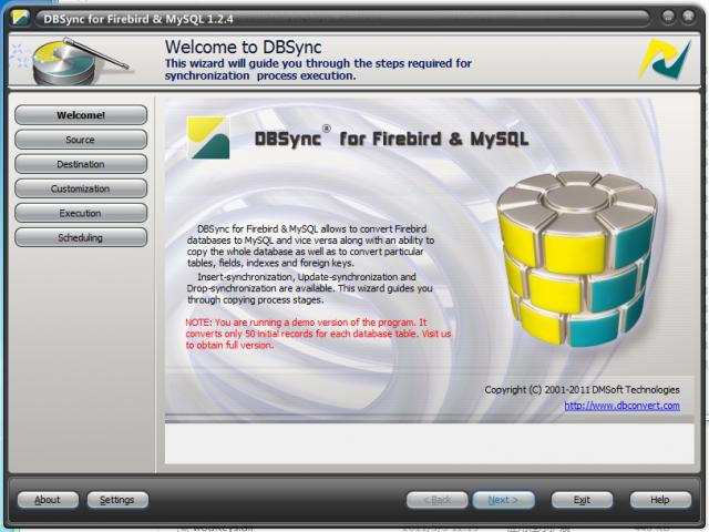 DBSync for Firebird and MSSQL(数据库同步软件)V2.1.5 电脑破解版