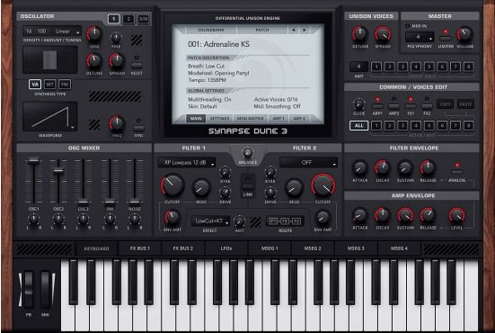 Synapse Audio DUNE(音频合成工具)V3.0.7 电脑版
