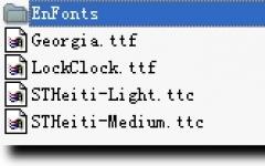IOS系统默认字体包