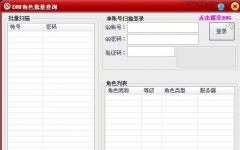 DNF角色信息批量查询 v2.1绿色版