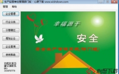 生产经营单位安全管理软件 v2.0 绿色免费版