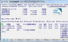 SIV(System Information Viewer)測試主板電壓、CPU溫度 v4.53 中文綠色版