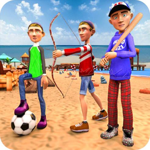 沙滩夏日运动会