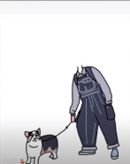 抖音牵狗情侣表情包怎么做?