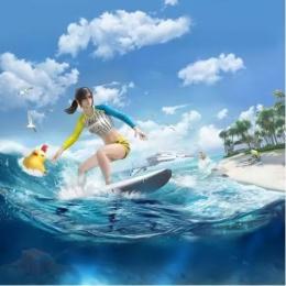 和平精英夏日模式冲浪怎么玩?