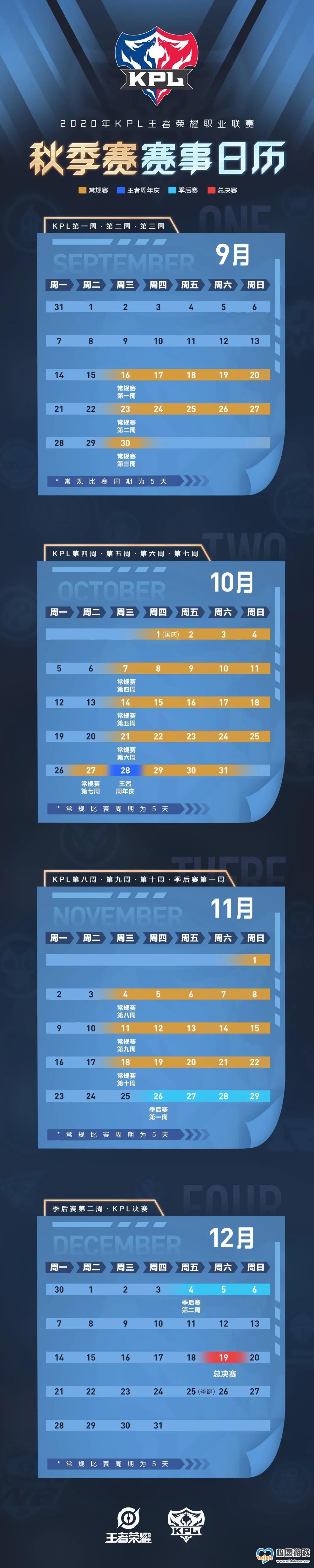 王者荣耀2020KPL秋季赛赛程表