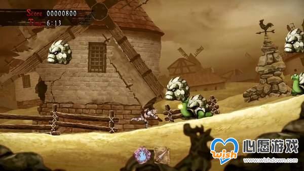 《魔界村:重生》新实机演示 击败僵尸骷髅,拯救公主