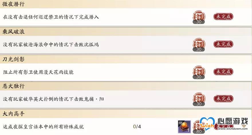 天涯明月刀手游夜探皇宫恶犬独行成就完成攻略_wishdown.com