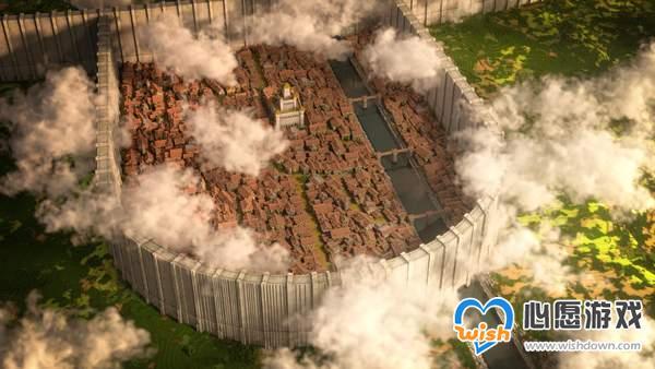 大神在《我的世界》1:1还原《进击的巨人》希干希纳区