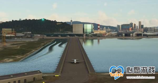 《微软飞行模拟》澳门/杭州机场Mod 地标建筑完美还原_wishdown.com