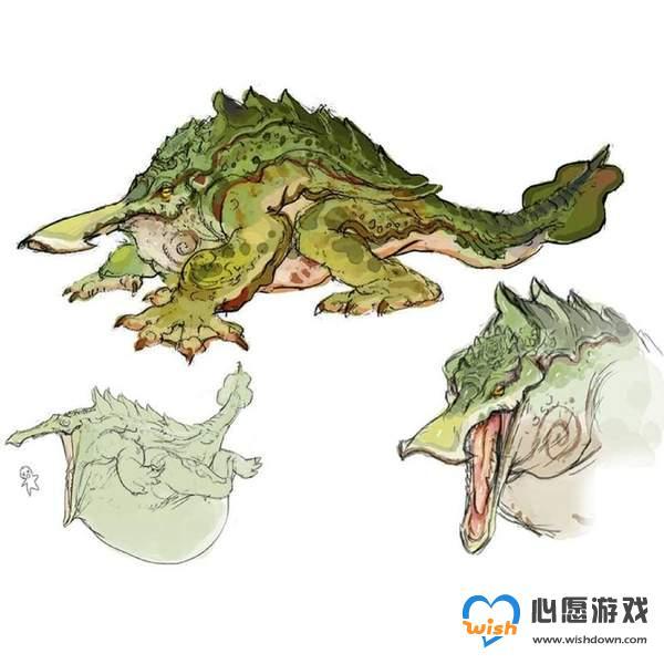 《怪物猎人:崛起》河童蛙设计图公布 红色四肢超霸气_wishdown.com