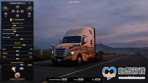 《欧洲卡车模拟2》拍照模式将加入新功能 可调时间天气_wishdown.com
