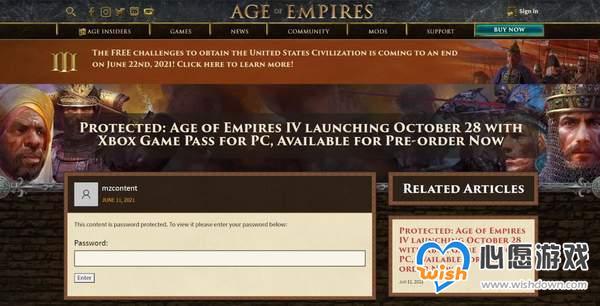 微软误操曝光《帝国时代4》Steam页面 10月28日发售_wishdown.com