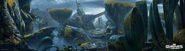 《漫威银河护卫队》概念艺术图 星爵带领众人开启冒险