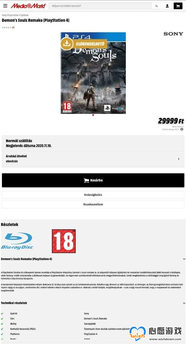 网传《恶魔之魂:重制版》或将登陆PS4 小规模测试中_wishdown.com