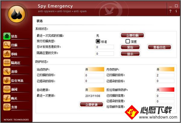 NETGATE Spy Emergency2019V25.0.300.0 电脑版_wishdown.com