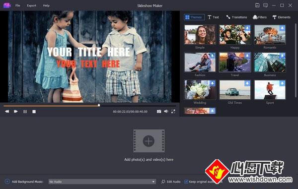 Apeaksoft Slideshow Maker(电子相册制作软件)V1.0.8  电脑破解版_wishdown.com