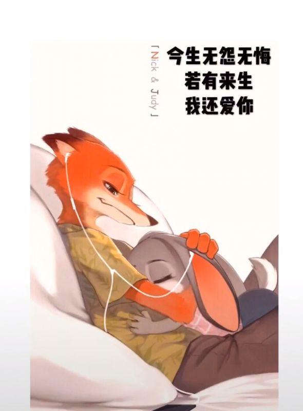 抖音兔子朱迪和尼克狐狸壁纸_wishdown.com