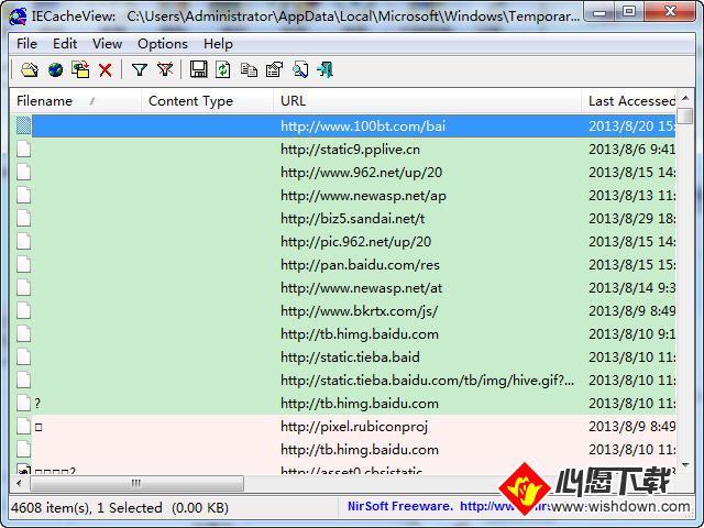 IE缓存查看工具(IECacheViewer)_wishdown.com