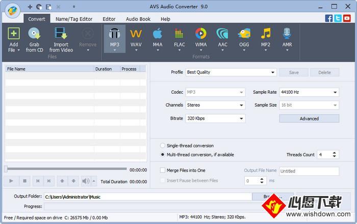 AVS Audio Converter(音频编辑软件)_wishdown.com