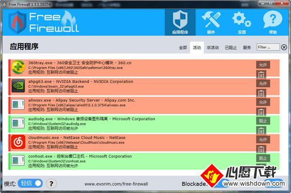 Evorim Free Firewall_wishdown.com