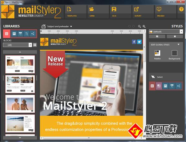 MailStyler(电子邮件设计软件)_wishdown.com