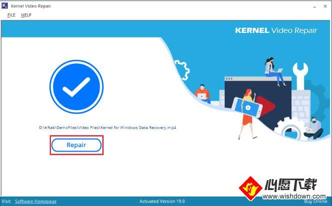 Kernel Video Repair(视频修复软件)_wishdown.com