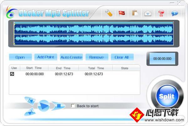 Okoker Mp3 Splitter(mp3剪切器)_wishdown.com