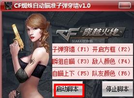 CF蜘蛛自动瞄准子弹穿墙辅助_wishdown.com