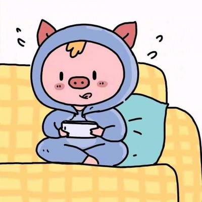 2019猪年卡通情侣头像大全图片