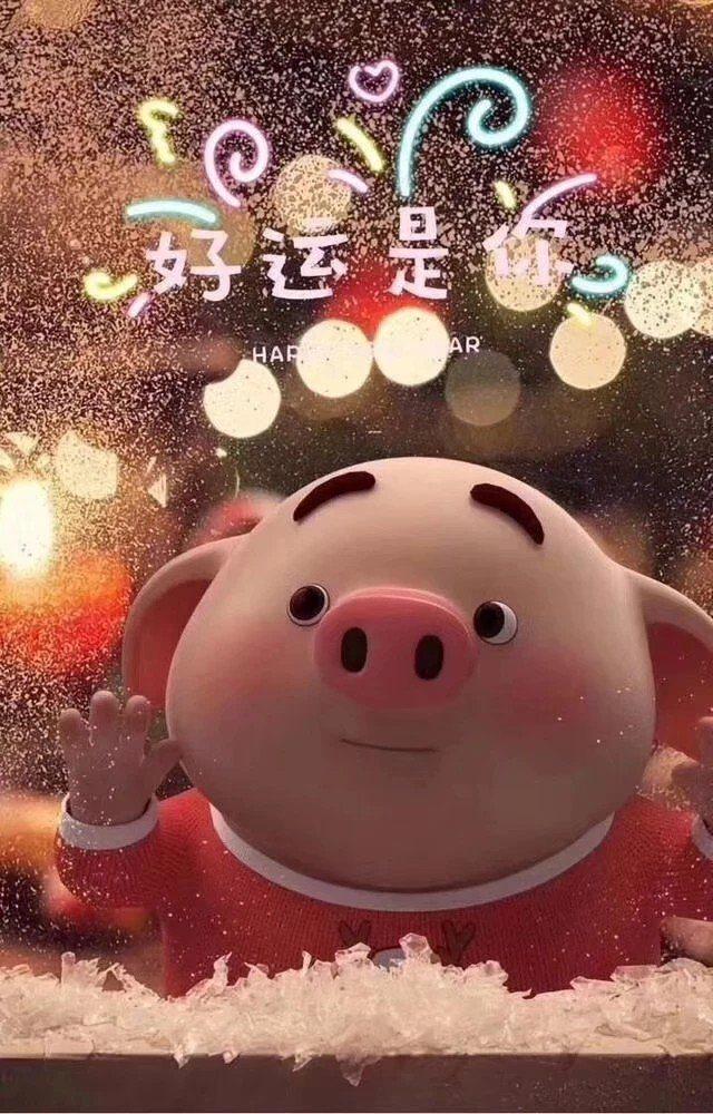 敬猪年一杯酒, 倒出来的是快乐, 喝下去的是幸福.