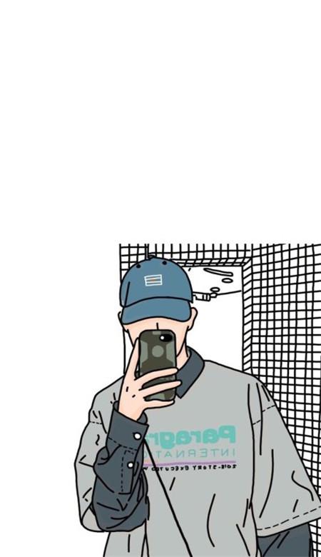 卡通男生手绘高清大图下载_www.rkdy.net