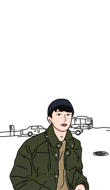 卡通男生手绘高清大图下载_wishdown.com