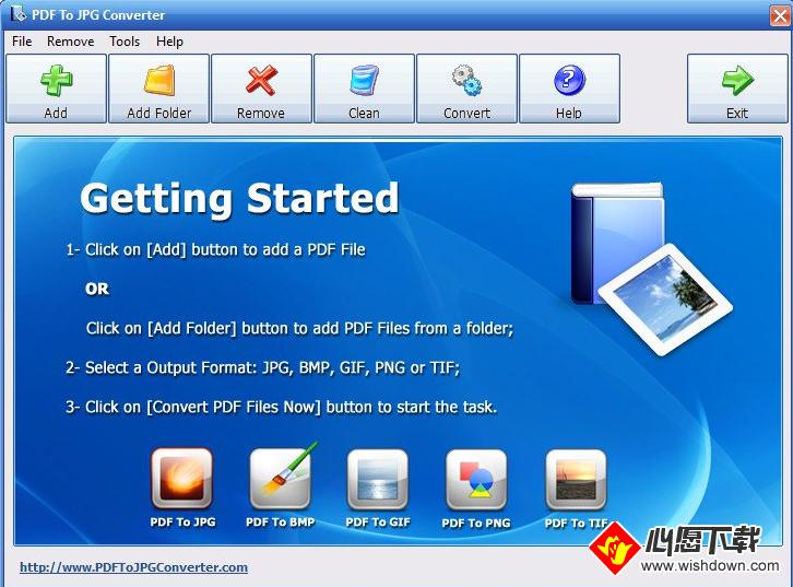 PDF To JPG Converter(PDF转图片软件)_wishdown.com