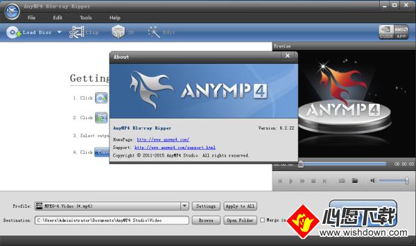 AnyMP4 Bluray Ripper(蓝光视频转换工具)_wishdown.com