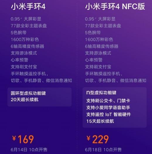小米手环4nfc有什么作用?_wishdown.com