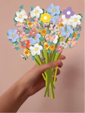 微信朋友圈手握花束图片制作方法教程_wishdown.com