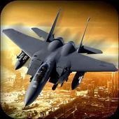 军用喷气式战斗机空袭