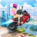坡道摩托车跳跃
